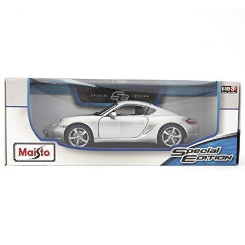 Porsche Cayman S Silver Diecast Model Car 118 by Maisto
