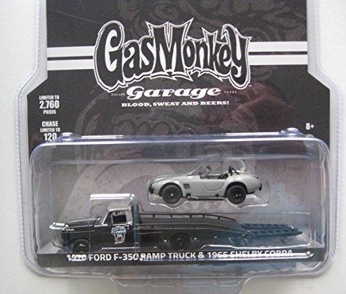 GREENLIGHT GAS MONKEY GARAGE 1970 FORD F-350 1965 SHELBY COBRA 164 SCALE DIECAST CARS SET 51138