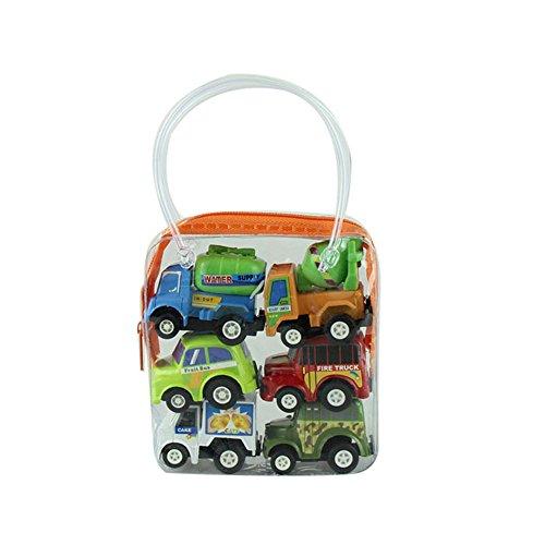 Buedvo Model Car TruckMulticolor Plastic Mini Pull Back Educational Toys