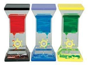 Single Wheel Drop Liquid Motion Desk Toy BLue