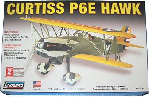 Curtiss P6E Hawk 148 Scale Plastic Model Airplane Kit by Lindberg