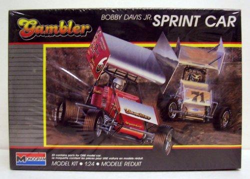 Monogram 2777 Bobby Davis Jr Gambler Sprint Car 124 Plastic Model Kit