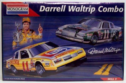 Monogram 6391 Darrell Waltrip 11 Racing Combo - 2 124 Plastic Model Car Kits by Monogram