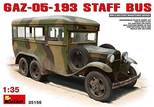 PLASTIC MODEL CAR GAZ-05-193 STAFF BUS 135 MINIART 35156