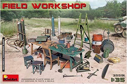 Miniart 35591 - Field Workshop - 135 Scale - Plastic Model kit Building kit