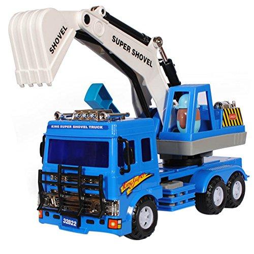 Environmental Protection Plastic Model Toy Car Blue Excavator