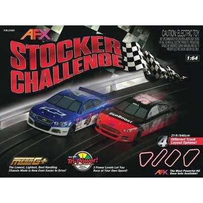 AFX Stocker Challenge HO Scale Slot Car Racing Track Set