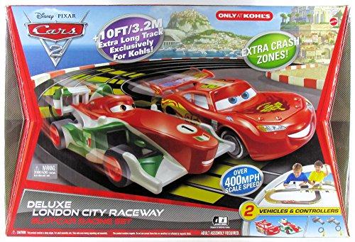 Disney Cars 2 Deluxe London City Raceway Slot-Car Racing Set With Exclusive Crash Zones