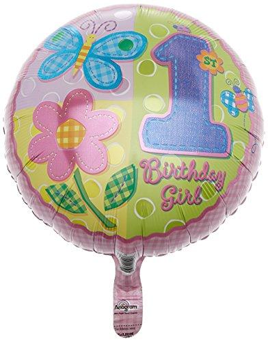 Anagram International Hx HugsStitches 1st Birthday Girl Balloon Pink
