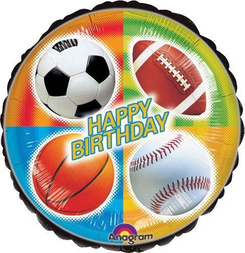 LoonBallon Birthday Sports Balloon Standard Foil Balloon 5 Pieces
