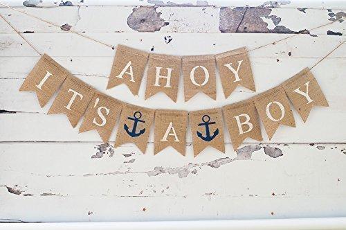 Ahoy Its A Boy Banner B071