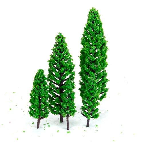 10Pcs 19 inch - 63 inch Green Train Set Scenery Landscape Model Tree Scale 150