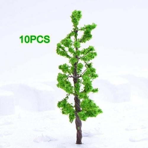 Dcolor Model Pine Tree Train Set Scenery Landscape N Z - 10PCS