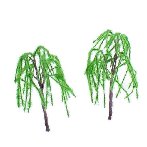 Model Weeping Willow Tree Train Set Scenery Landscape O S HO OO TT - 10PCS