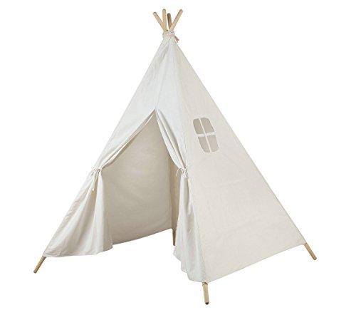 AniiKiss 6 Giant Canvas Kids Teepee Play Tent White