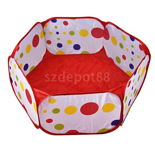 Sangdo 12M Foldable Ocean Balls Pit Kids Toy Tent Safe Playpen Birthday Xmas Gift