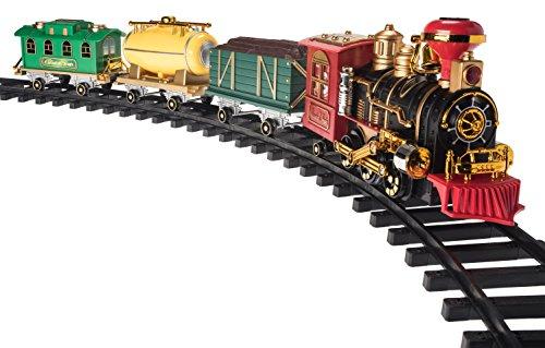 Christmas Train Set- Around the Christmas Tree with Real Smoke Music Lights