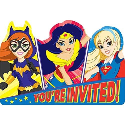 DC Super Hero Girls Invitations by BirthdayExpress