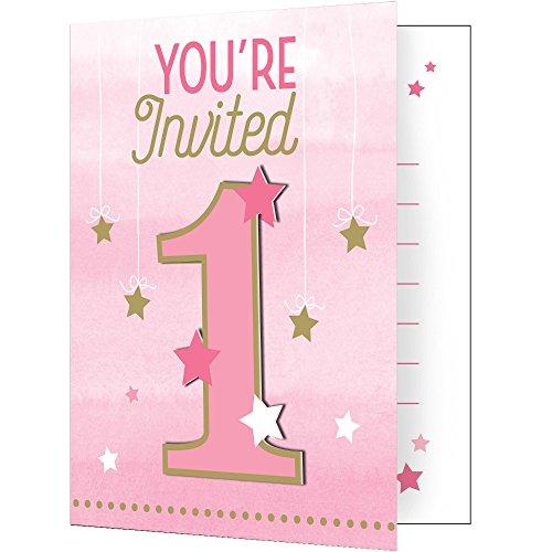 One Little Star Girl Invitations 8 ct