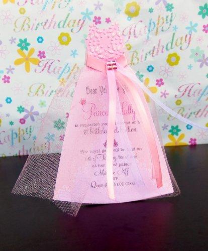 25 Birthday Princess Invitations