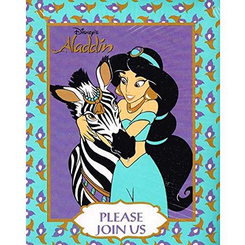Aladdin Jewel Princess Invitations w Envelopes 8ct