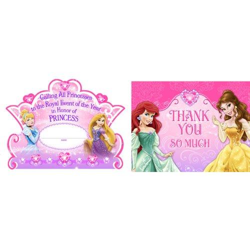 Disney Princess Dream Party InvitationsThank-You Postcards 8 each by Hallmark