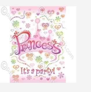 Diva Princess Invitations 8ct