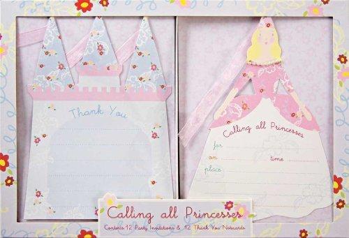 Meri Meri Princess InvitationThank You Set - 8 ct by Meri Meri