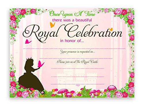 Princess Fairy Tale Party Invitations - 10 Invitations  10 Envelopes