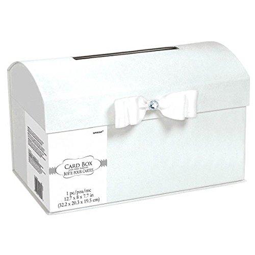 Amscan Elegant Metal Wedding Card Holder Box 8