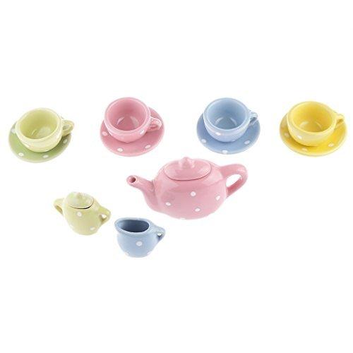 No brand goods dot pattern mini porcelain tea set children play toy gift