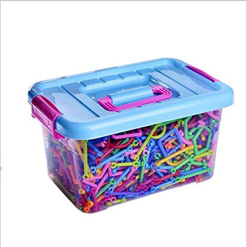 Meijunter 1100PCS Inserted Plastic Building Blocks Developmental Toys for Kids Children
