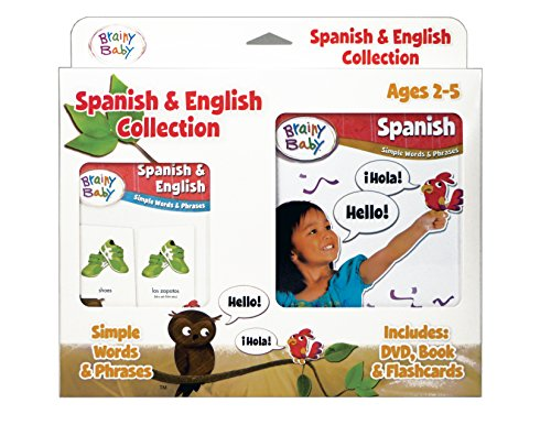 Brainy Baby Spanish and English Flashcards DVD and Boardbook Collection Deluxe