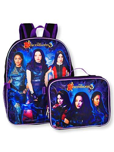 Descendants Girls 16 Backpack WDetachable Lunch Box