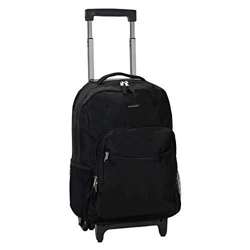 Rockland Luggage 17 Inch Rolling Backpack Black Medium