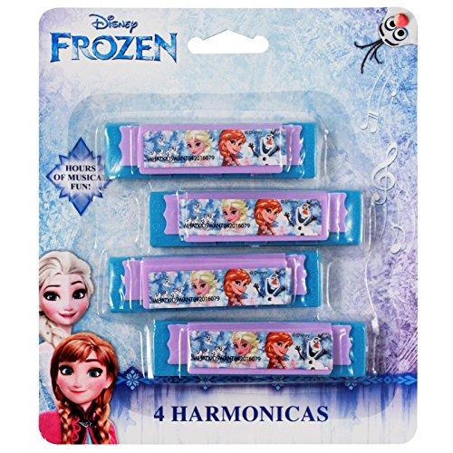 Disney Licensed Frozen Elsa Anna Mini Harmonica Kids Music Instrument Toy 4pk