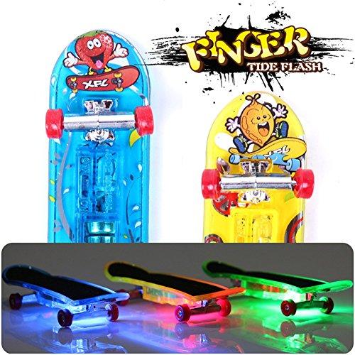2Pcs Mini Light Skateboard Toys Fingerboard Skateboard Tech Boy Kids Children Gifts Toys Creative
