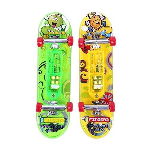 Mini Skateboard Toys - TOOGOOR 2 x Mini Skateboard Toys Finger Board Tech Deck Boy Kids Children Gifts