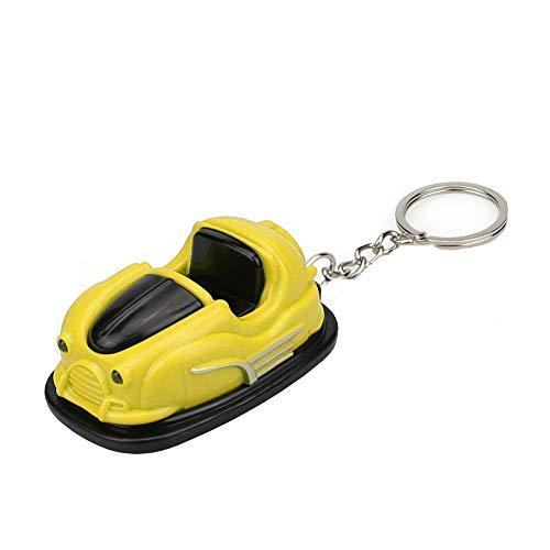 Emerayo Mini Car Light Up LED Novelty Keychain Flashlight with Sound Yellow One