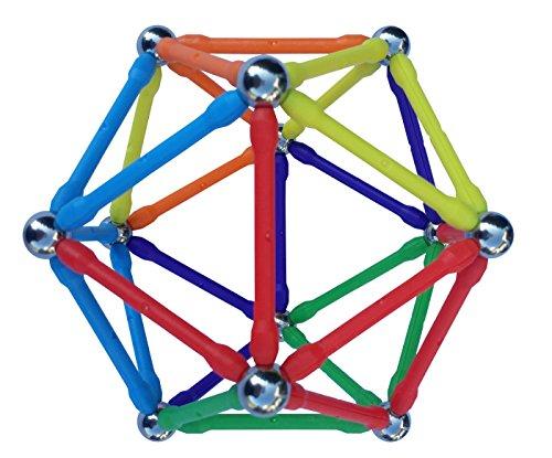 Mega Magz 130-Piece Magnetic Construction Set - 66 bars and 64 balls