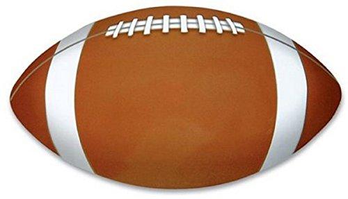Rhode Island Novelty Football Shaped 7 Sport Magnet Brown