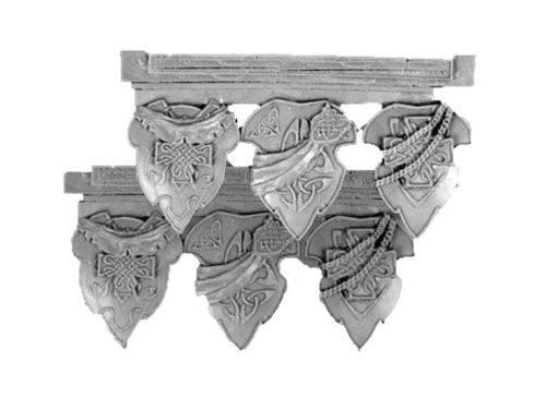 28mm Miniature Conversion Parts Celtic Shields 2 6