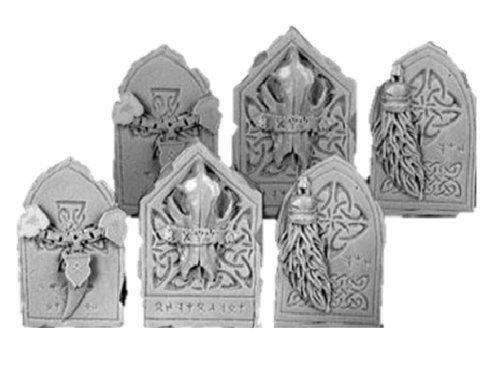 28mm Miniature Conversion Parts Wolf Decorated Plates Set  4 6
