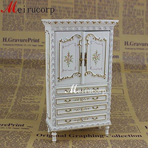 Fine 112 Scale Dollhouse Miniature Furniture White Collection Cabinet