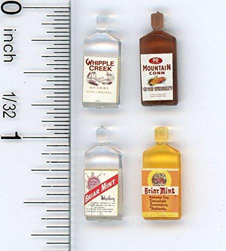 Dollhouse Miniature 112 Scale Four Bottles of Liquor