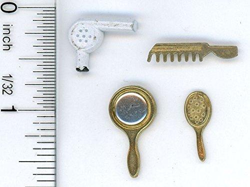 Dollhouse Miniature 112 Scale Four Piece Bathroom Accessory Set