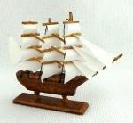 Melody Jane Dollhouse Model Sailing Ship Walnut Miniature 112 Boat Ornament Accessory