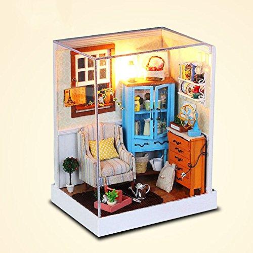 Prettydollhouse Rocky Town DIY Creative Model Dollhouse Furniture with Light