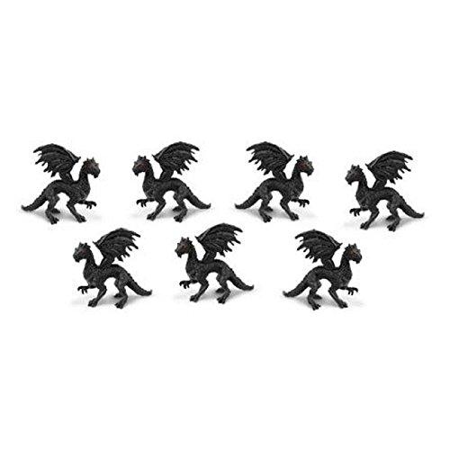Dollhouse Miniature 12pc Black Dragon by Dollhouse Shoppe