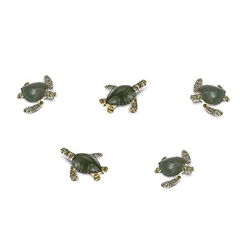 Dollhouse Miniature 12pc Micro-Mini Sea Turtles by Dollhouse Shoppe